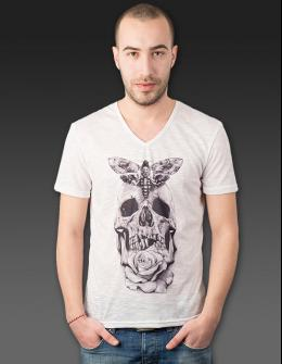 Men t-shirt - Skull with Butterfly