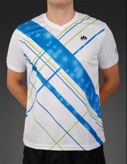 Mens Sport T-shirt - Blue-Green Stripes