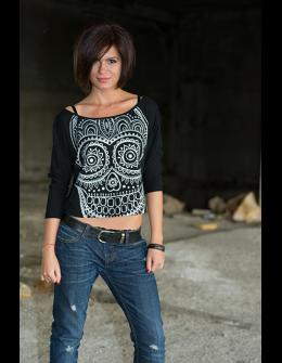 Ladies long sleeve - Smiley skull
